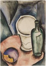 Natan Isaevich ALTMAN - Dibujo Acuarela - Still Life with Bottle