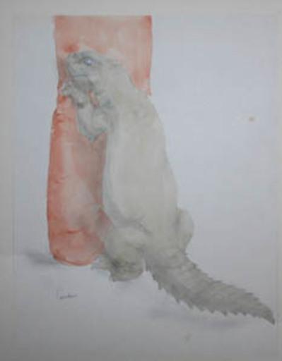 Marcel LEMAR - Zeichnung Aquarell - Lézard