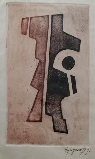 Jean SIGNOVERT - Druckgrafik-Multiple - Abstraction