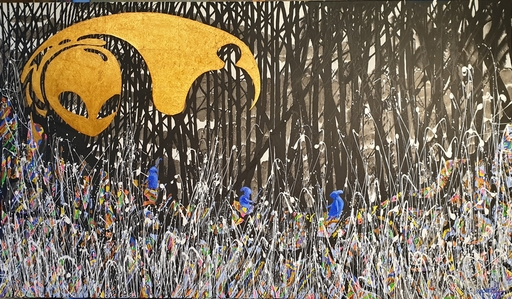 Rafael DE TOURS - Peinture - J'ai traversé la vallée des Ténèbres