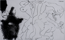 Pablo PICASSO - Stampa Multiplo - Old Rembrandtesque Painter,from: Suite 347