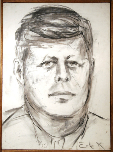 Elaine Marie DE KOONING - Painting - John F. Kennedy #10