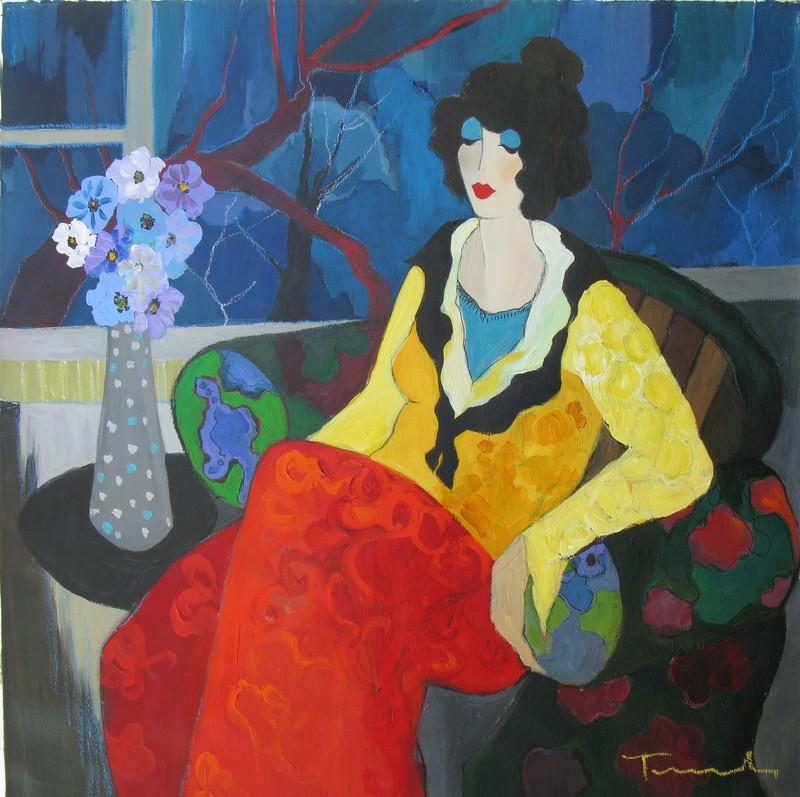 Isaac TARKAY - Painting - * Winter, Oil on Canvas, 36 x 36