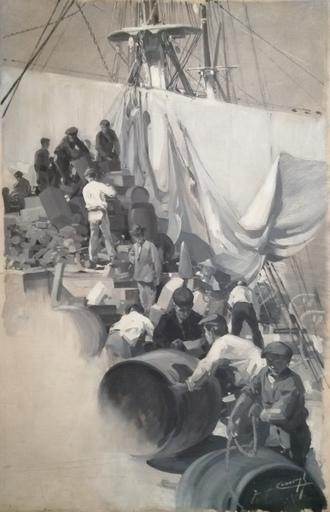 Jacques Marie Omer CAMOREYT - Gemälde - Comment on prépare une expédition