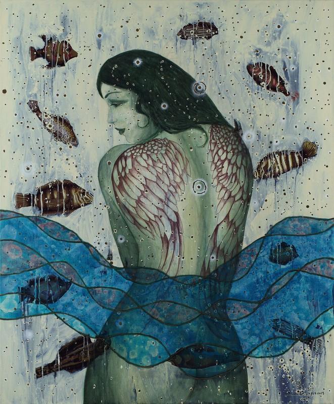 Humberto CASTRO - Pittura - Wings