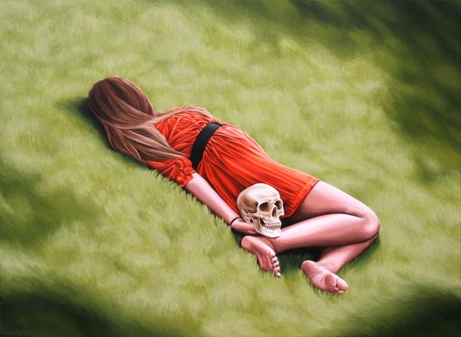 Erlend STEINER LOVISA - Painting - Cornelia 1 (Memento mori)    (Cat N° 4546)