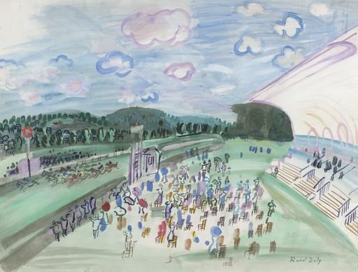 Raoul DUFY - Pintura - Courses à Deauville