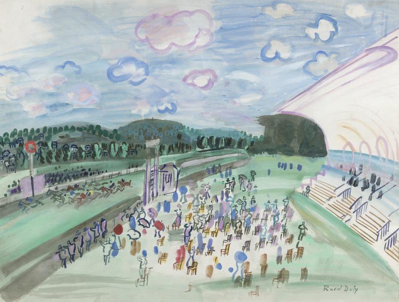 Raoul DUFY - Peinture - Courses à Deauville