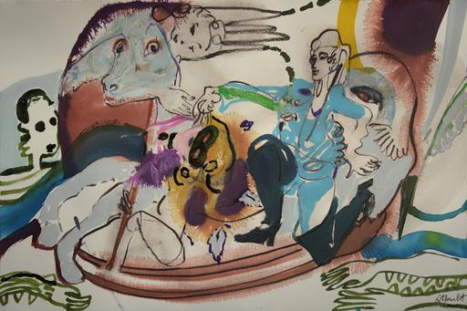 Sandra DETOURBET - Painting - Le Sacrifice