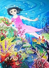 Seung-Hun SHIN - Painting - Fantasy Jejuisland- Sea Story