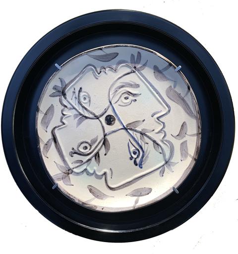 巴勃罗•毕加索 - 陶瓷  - Quatre profils enlacés
