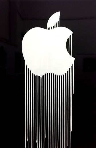 ZEVS - Painting - Liquidated Apple