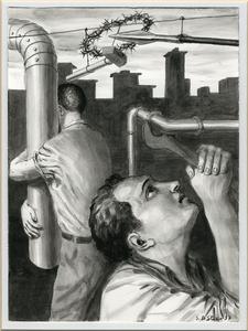 Stefano DI STASIO - Drawing-Watercolor - Idraulica del martirio