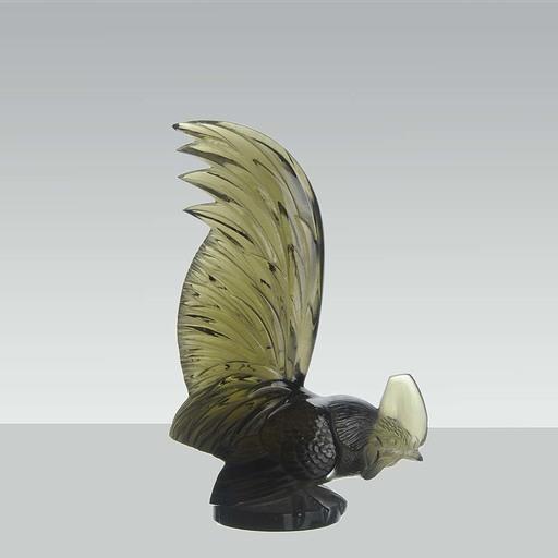 "René LALIQUE -  René Lalique ""Topaz Coq Nain"""
