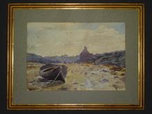 Blanche ODIN - Drawing-Watercolor - Le Conquet à marée basse