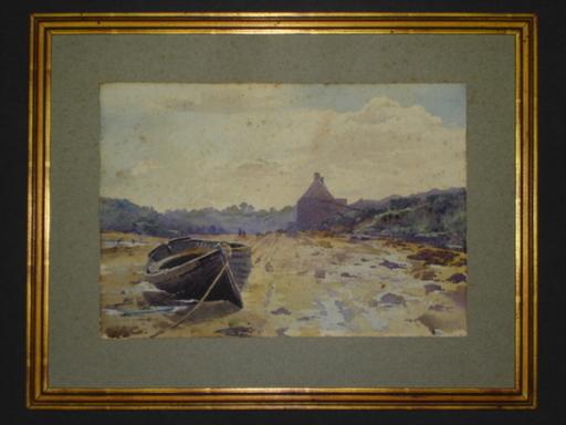 Blanche ODIN - Disegno Acquarello - Le Conquet à marée basse