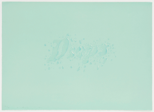 Ed RUSCHA - Stampa-Multiplo - Drops