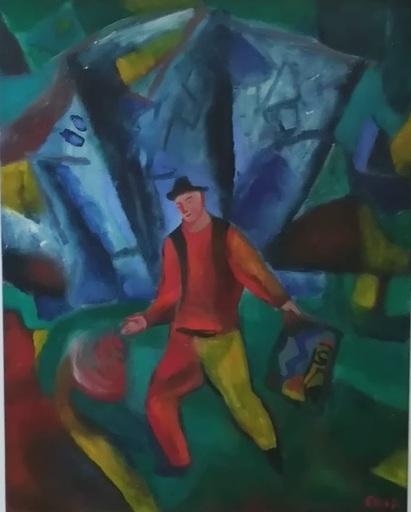 Sandro CHIA - Painting - Ritratto pittore transavanguardia