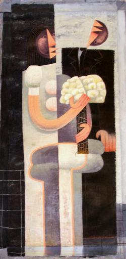 Jorge VALLEJOS - Painting - Los Novios