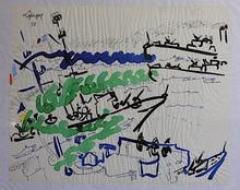 Charles LAPICQUE - Dessin-Aquarelle - Manœuvre au large de Brest