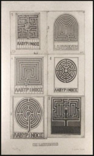 Joe TILSON - Print-Multiple - Six Labyrinths