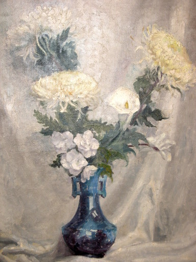 Lorenzo CODINI - Painting - LE GRAND BOUQUET BLANC