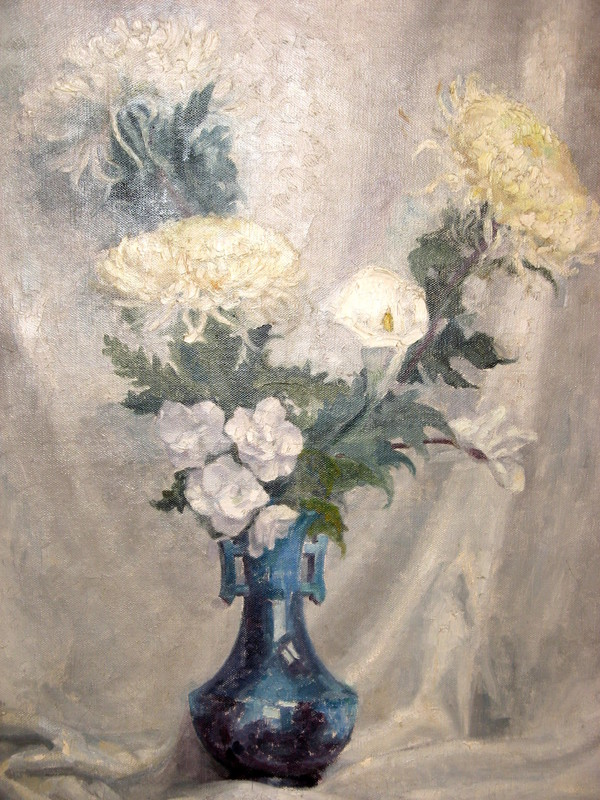 Lorenzo CODINI - Painting - LE GRAND BOUQUET BLANC