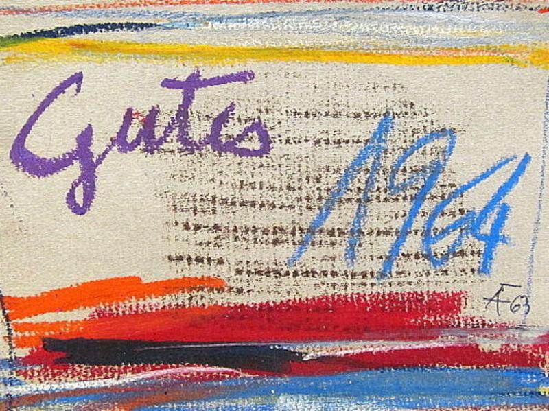 Arnold FIEDLER - Disegno Acquarello - Neujahrsgruß *Gutes 1964*