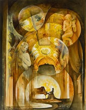 Roger SURAUD - Peinture - LE PIANISTE
