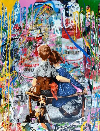 MR BRAINWASH - Pintura - work well together