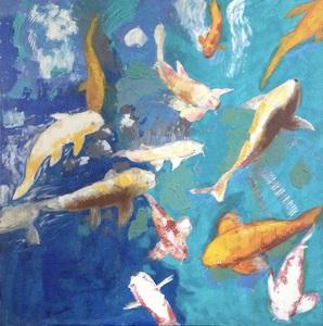 PAT H - Peinture - Le rêve du poisson rouge