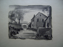 Maurice DE VLAMINCK - Print-Multiple - Nelle-la-Vallée, Maisons rustiques