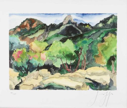 Günter GRASS - Stampa-Multiplo - Südliche Landschaft (Ardèche)