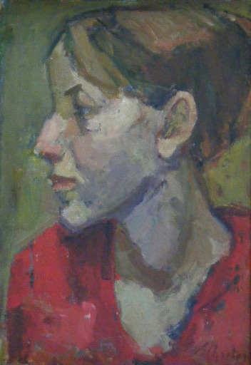Zygmunt Szreter SCHRETTER - Painting - Profile of a Woman