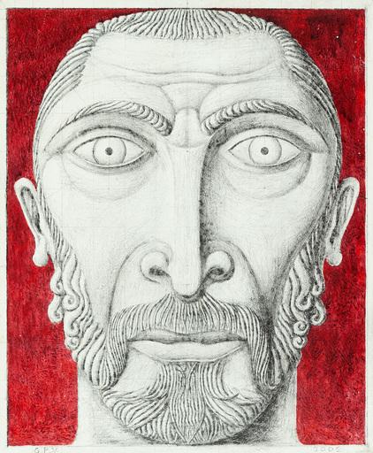 Guillermo PÉREZ VILLALTA - Painting - Cara bizantina