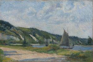 Paul GAUGUIN - Painting - Les falaises de la Bouille