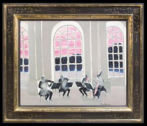 André BRASILIER - Peinture - Musique à Versailles