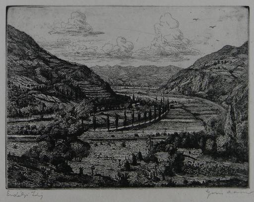Arnold GROSS - Druckgrafik-Multiple - Transylvania Landscape