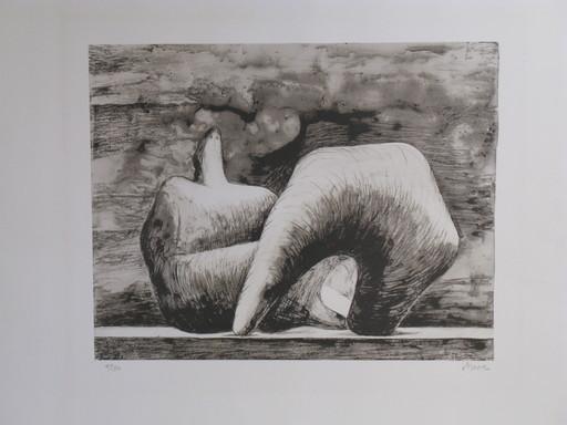 亨利•摩尔 - 版画 - *Reclining Figure Pointed C. 543