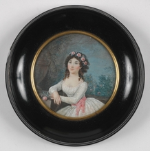 Jean Baptiste MALLET (Attrib.) - Miniature - Signed and Dated 1795, Portrait Miniature