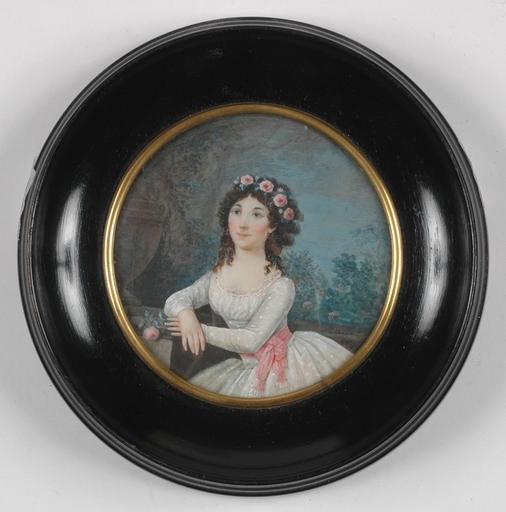 Jean Baptiste MALLET (Attrib.) - Miniatura - Signed and Dated 1795, Portrait Miniature