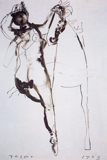 马里诺•马里尼 - 绘画 - CAVALLO E CAVALIERE