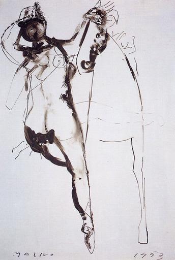 Marino MARINI - Pintura - CAVALLO E CAVALIERE