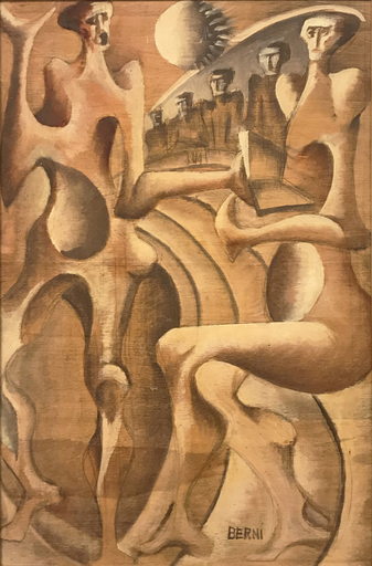 Antonio BERNI - Painting - Senza titolo