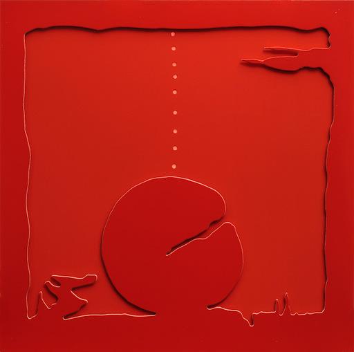 Lucio FONTANA - Sculpture-Volume - Teatrino rosso