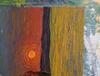 Valeriy NESTEROV - Painting - Village landscape