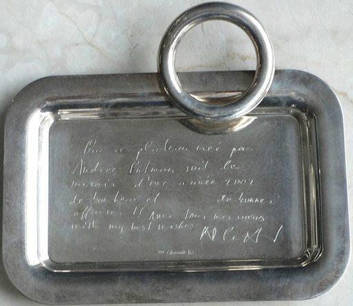 Andrée PUTMAN - Sculpture-Volume - VOEUX annelé en métal argenté – Christofle