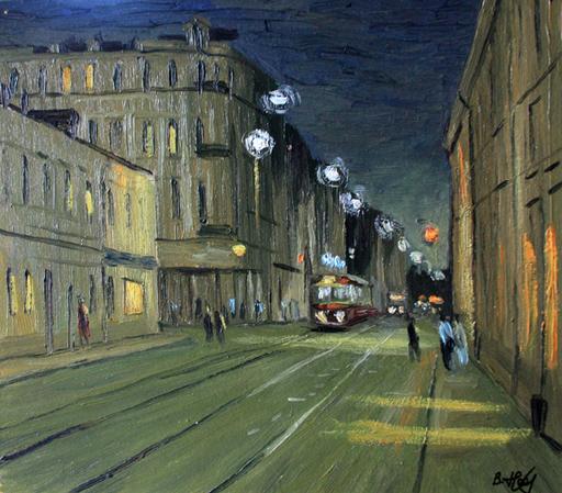 Valeriy NESTEROV - Peinture - Novokuznetskaya street. Moscow