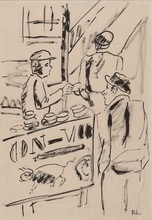 Fernand LÉGER - Dessin-Aquarelle - Les Ouvriers, étude pour la ville