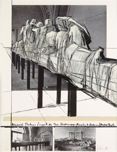 CHRISTO - Estampe-Multiple - WRAPPED STATUES